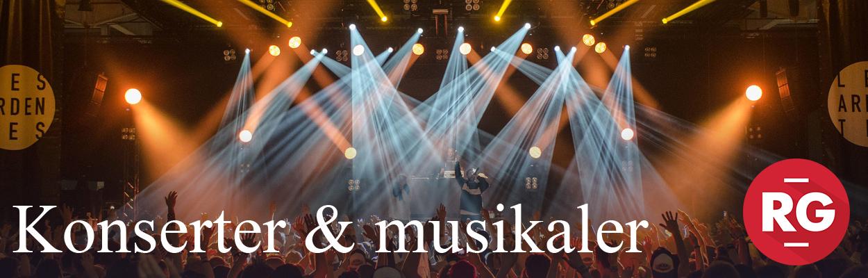 Konserter og musikaler